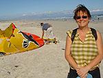 PKap surfar på Muizenbergs långa mjuka sköna sandstrand