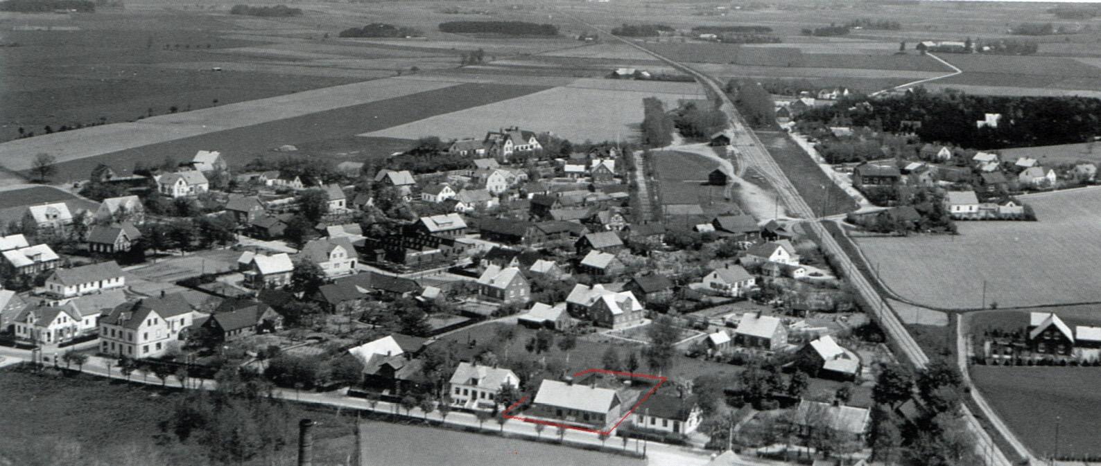 Södra Sandby flygfoto 1930-31