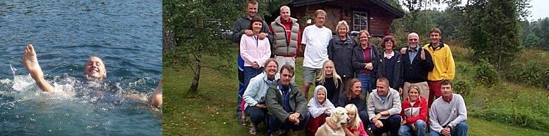 Oskar badar i Vättern aug 2003 - Gruppfoto 12 aug 2001